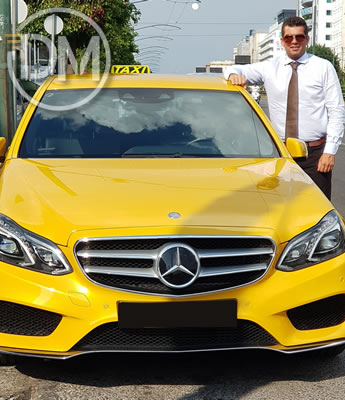 Mercedes Benz Yellow Taxi (Cab)